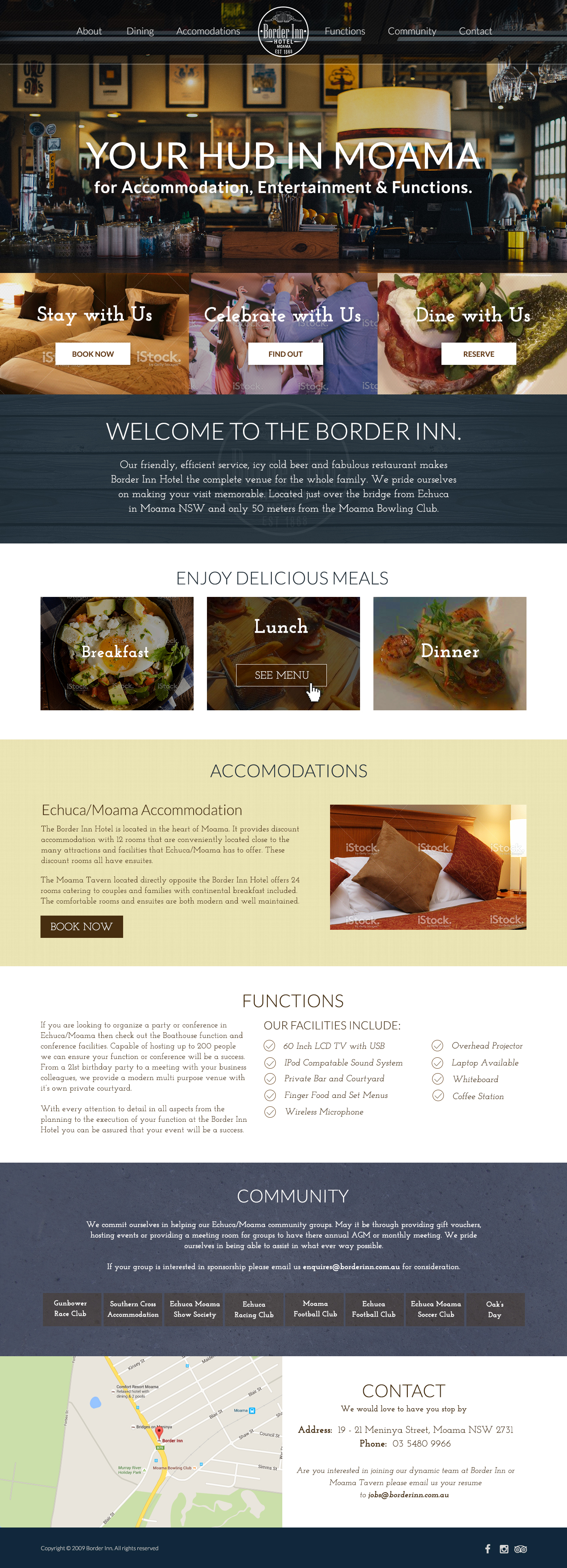 Border Inn Homepage Design