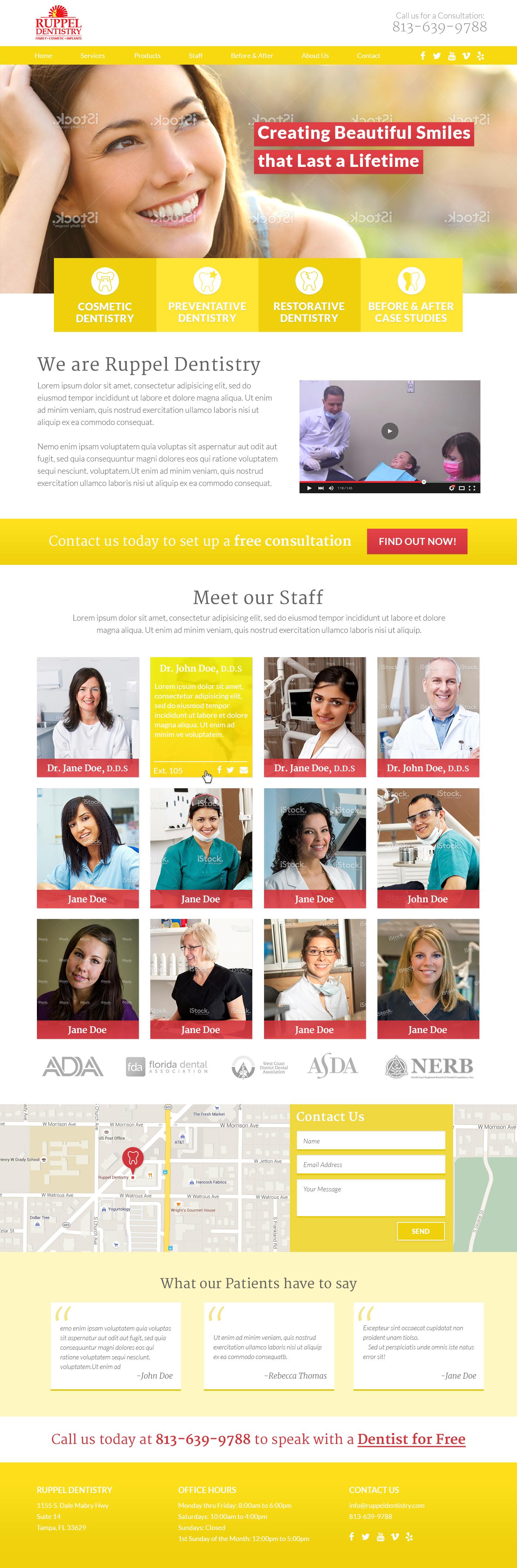 Ruppel Dentistry Homepage Design